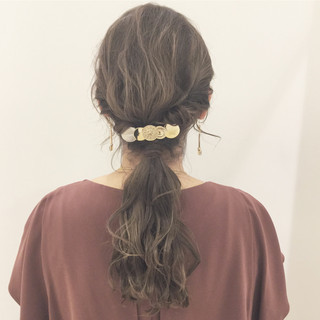 ロング 上品 結婚式 エレガント ヘアスタイルや髪型の写真・画像