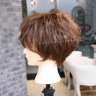 アンニュイほつれヘア パーマ デート ショート ヘアスタイルや髪型の写真・画像