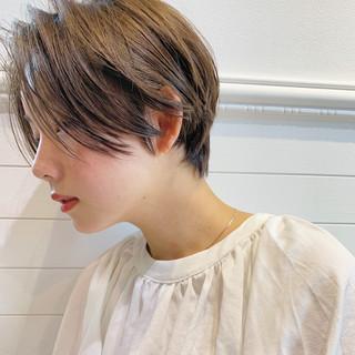ナチュラル オフィス 透明感 アウトドア ヘアスタイルや髪型の写真・画像