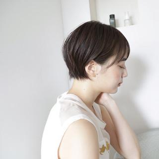 スポーツ ナチュラル ショート アウトドア ヘアスタイルや髪型の写真・画像