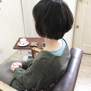 ショート 大人女子 大人かわいい ママ ヘアスタイルや髪型の写真・画像