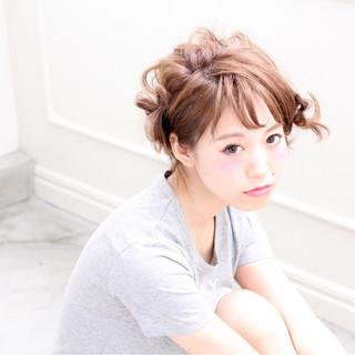 ショート 簡単ヘアアレンジ 外国人風 アッシュ ヘアスタイルや髪型の写真・画像