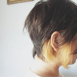 ショートボブ ストリート ブリーチ ボブ ヘアスタイルや髪型の写真・画像