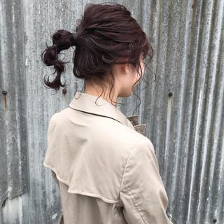 セミロング カジュアル 浴衣アレンジ 簡単ヘアアレンジ ヘアスタイルや髪型の写真・画像