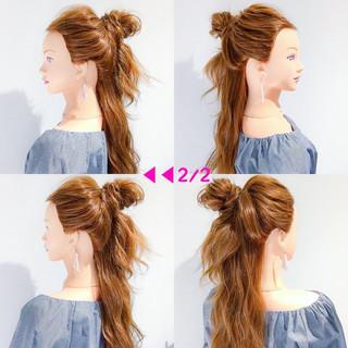 簡単ヘアアレンジ アウトドア デート フェミニン ヘアスタイルや髪型の写真・画像 ヘアスタイルや髪型の写真・画像