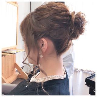 ミディアム フェミニン 結婚式 大人女子 ヘアスタイルや髪型の写真・画像