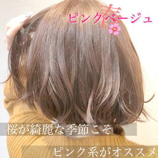 切りっぱなしボブ ショートヘア ミニボブ フェミニン ヘアスタイルや髪型の写真・画像