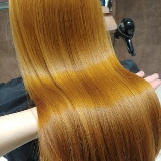 トリートメント ロング 髪質改善 前髪あり ヘアスタイルや髪型の写真・画像