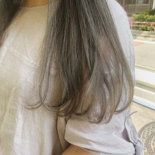 アウトドア ガーリー セミロング デート ヘアスタイルや髪型の写真・画像