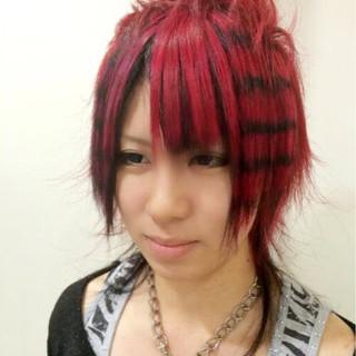 ミディアム モード ヘアアレンジ 夏 ヘアスタイルや髪型の写真・画像 ヘアスタイルや髪型の写真・画像