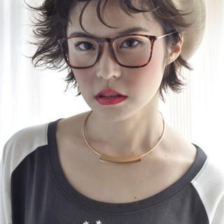 ナチュラル ショート ニュアンス ベレー帽 ヘアスタイルや髪型の写真・画像