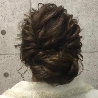 ロング アップスタイル エレガント パーティ ヘアスタイルや髪型の写真・画像 ヘアスタイルや髪型の写真・画像
