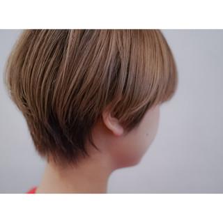 ナチュラル グラデーションカラー ショート 大人かわいい ヘアスタイルや髪型の写真・画像 ヘアスタイルや髪型の写真・画像