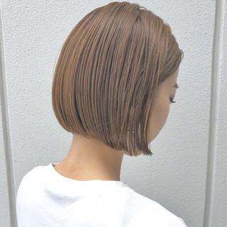 ナチュラル シナモンベージュ スポーツ ボブ ヘアスタイルや髪型の写真・画像