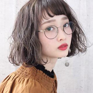 かわいい 大人ショート アンニュイほつれヘア ボブ ヘアスタイルや髪型の写真・画像