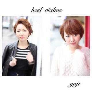 フェミニン 愛され ショート 渋谷系 ヘアスタイルや髪型の写真・画像