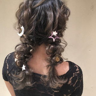 パーティー 編みおろし ロング 結婚式 ヘアスタイルや髪型の写真・画像