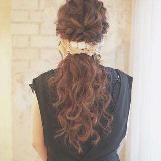 簡単ヘアアレンジ 結婚式 ハーフアップ ヘアアレンジ ヘアスタイルや髪型の写真・画像