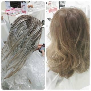 外国人風 アッシュ グラデーションカラー ブラウンベージュ ヘアスタイルや髪型の写真・画像