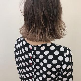 ハイライト ボブ アンニュイ ナチュラル ヘアスタイルや髪型の写真・画像