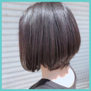 デート ボブ ワンレングラボブ 大人グラボブ ヘアスタイルや髪型の写真・画像