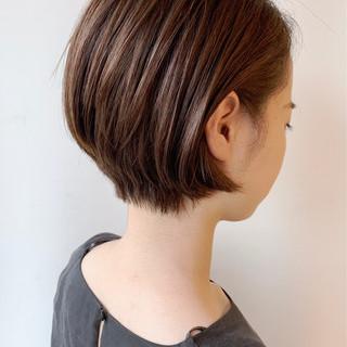 ショートヘア ショート オフィス 大人かわいい ヘアスタイルや髪型の写真・画像