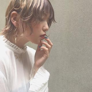 外ハネ ウェーブ オン眉 モード ヘアスタイルや髪型の写真・画像 ヘアスタイルや髪型の写真・画像