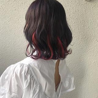 カラーバター ダブルカラー ストリート ボブ ヘアスタイルや髪型の写真・画像