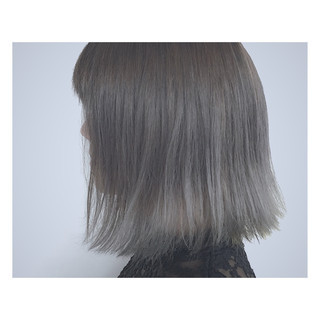グレージュ 外国人風 グラデーションカラー ストリート ヘアスタイルや髪型の写真・画像