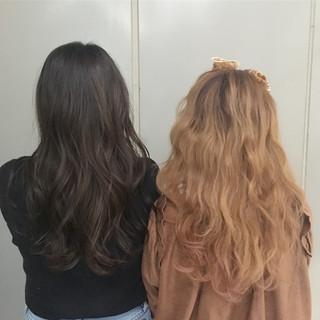 ゆるふわ グラデーションカラー アンニュイほつれヘア ガーリー ヘアスタイルや髪型の写真・画像
