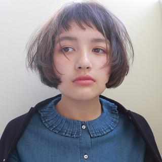 色気 マッシュ ナチュラル ボブ ヘアスタイルや髪型の写真・画像