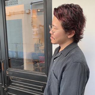 ボルドー メンズ 外国人風カラー メンズカラー ヘアスタイルや髪型の写真・画像