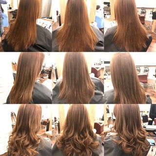 カール ヘアアレンジ ナチュラル イルミナカラー ヘアスタイルや髪型の写真・画像