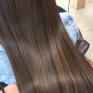 春 コンサバ 艶髪 ロング ヘアスタイルや髪型の写真・画像