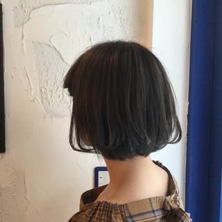 モード ボブ アッシュグレージュ 外国人風カラー ヘアスタイルや髪型の写真・画像 ヘアスタイルや髪型の写真・画像