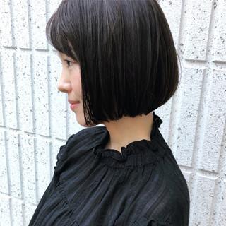ボブ ナチュラル 大人女子 透明感カラー ヘアスタイルや髪型の写真・画像