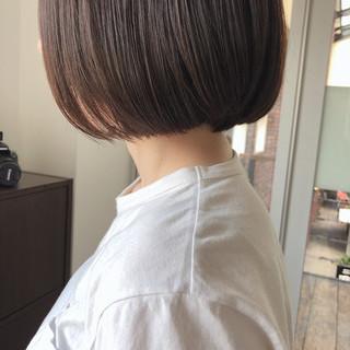簡単ヘアアレンジ ショートボブ ミニボブ 切りっぱなしボブ ヘアスタイルや髪型の写真・画像