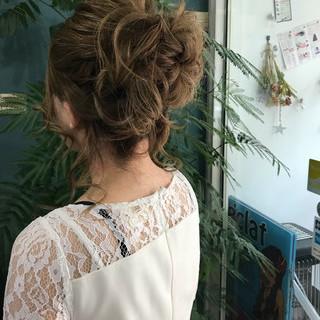 パーティ エレガント ヘアアレンジ デート ヘアスタイルや髪型の写真・画像