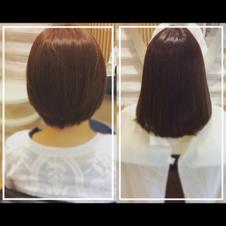 艶髪 大人ヘアスタイル 社会人の味方 髪質改善トリートメント ヘアスタイルや髪型の写真・画像