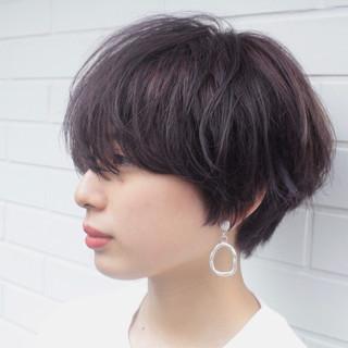 ショート ショートバング ショートヘア モテ髪 ヘアスタイルや髪型の写真・画像