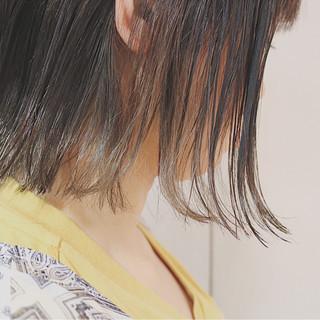 切りっぱなし 透明感 秋 ボブ ヘアスタイルや髪型の写真・画像