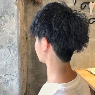 ボーイッシュ メンズ パーマ ショート ヘアスタイルや髪型の写真・画像