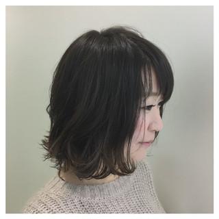 グラデーションカラー 外国人風カラー ボブ 切りっぱなし ヘアスタイルや髪型の写真・画像