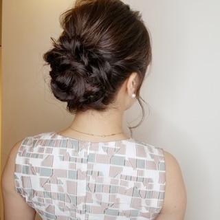 結婚式 エレガント 結婚式ヘアアレンジ ロング ヘアスタイルや髪型の写真・画像