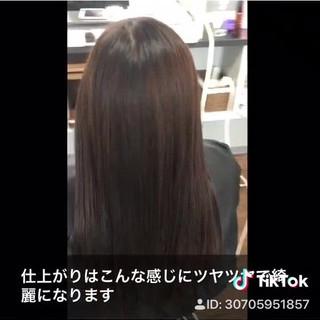 ナチュラル 髪質改善 ロング 髪質改善トリートメント ヘアスタイルや髪型の写真・画像