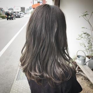 外国人風 外国人風カラー ブリーチ 涼しげ ヘアスタイルや髪型の写真・画像