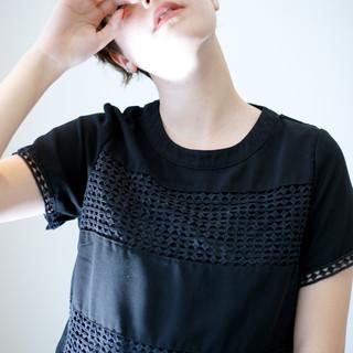 ショートヘア ショート ミニボブ デジタルパーマ ヘアスタイルや髪型の写真・画像