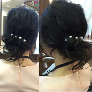 大人女子 セミロング 簡単ヘアアレンジ ショート ヘアスタイルや髪型の写真・画像 ヘアスタイルや髪型の写真・画像