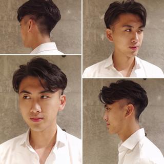 ショート ナチュラル メンズ メンズパーマ ヘアスタイルや髪型の写真・画像