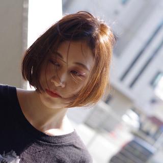 ショートボブ ミニボブ 大人ヘアスタイル シンプル ヘアスタイルや髪型の写真・画像